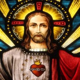 Heilig hart van Jezus, glas-in-lood