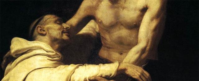 Christus omhelst Bernardus