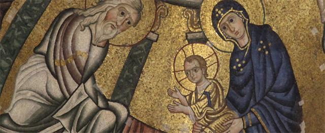 De grote, innerlijke vrede van Simeon 1
