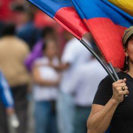 Venezuela, vrouw protesteert