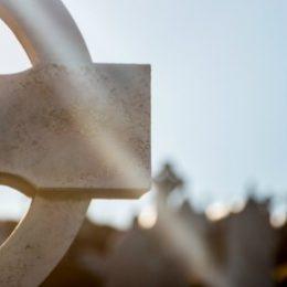 Kruis op begraafplaats, de dood