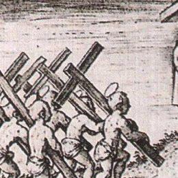 Bij Marcus hangt Jezus gekleineerd aan het kruis