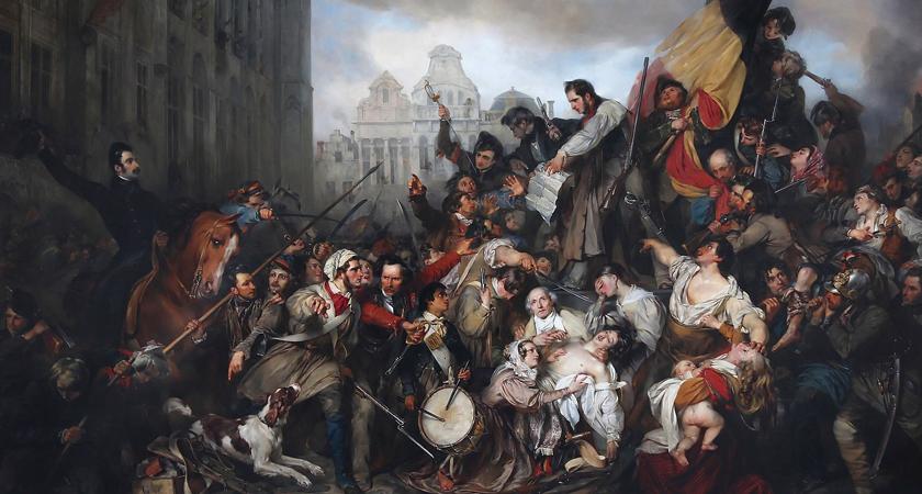 schilderij Belgische opstand
