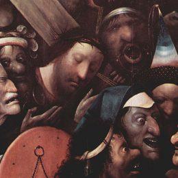 Kruisdraging, Jezus, door Jheronimus Bosch